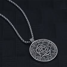 star vintage necklace images Men star of david pendant necklace stainless steel necklace roman jpg