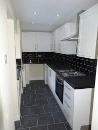 Kitchen Design L Shape Appliances Minimalist Kitchen Design L Shaped Black Granite