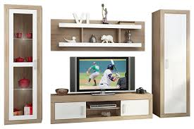 wall unit modern entertainment center with led lights 70