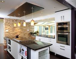 stunning ceiling design for kitchen 17 with additional wallpaper
