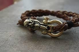 bracelet handmade leather images Leather bracelet viking shop online on livemaster with shipping jpg