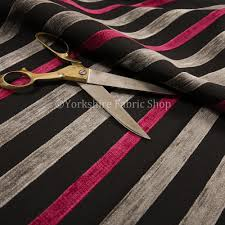 pink grey black textured striped pattern chenille upholstery