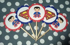 superman baby shower superman cupcake topper superman cupcake dessert table
