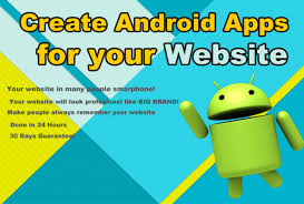 create apk i will create android apps apk for your website for 10