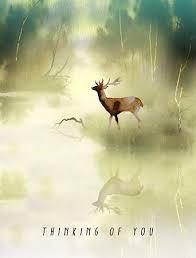 fog buck watercolor greeting card by masha d yans masha