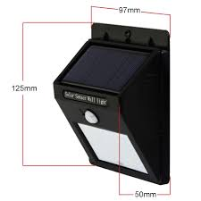 bright light solar bright 4 led wireless solar powered motion sensor wall light led