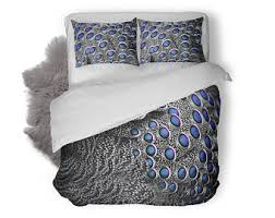 peacock bedding etsy