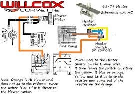 1968 1979 corvette heater schematic without air conditioning