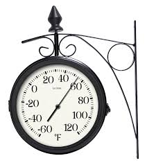 Patio Clock And Thermometer Sets by Amazon Com Lacrosse 104 730 8