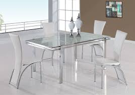 Glass Dining Table Chairs Dining Room Luxurious White Cottage Dining Table Design With