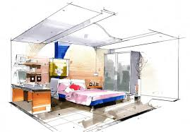 best interior design bedroom drawing decor modern on cool