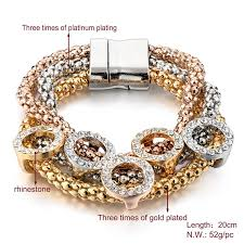 magnetic bracelet gold plated images Gold plated women magnetic bracelet round ar collections jpg