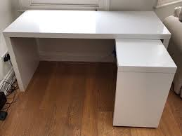 desk with pull out panel white desk with pull out panel malm ikea assembled in fulham