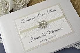 wedding guest book ivory personalised wedding guest book co uk
