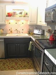 Black Paint For Kitchen Cabinets Sunset Coast My Black And White Painted Kitchen Cabinets