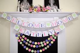 Decor Baby by Baby Shower Decor Welcome Home Baby Banner And Garland Set