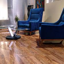 Walnut Laminate Flooring Uk Dark Walnut Elesgo High Gloss Laminate Flooring 15 99m2