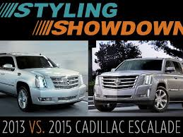 cadillac truck 2014 2014 vs 2015 cadillac escalade styling showdown truck trend