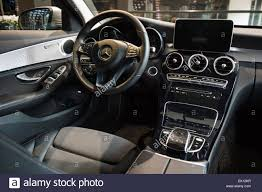 cars mercedes 2015 berlin january 24 2015 showroom cabin of a compact executive