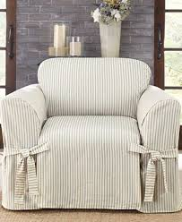 Patio Furniture Slip Covers Sure Fit Ticking Stripe Slipcover Collection Slipcovers For