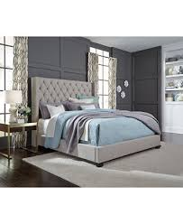 Upholstered Bed Frame Cole California by Monroe Upholstered California King Bed Furniture Macy U0027s