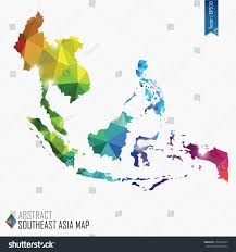 Asia Map by Colorful Abstract Southeast Asia Map Vector Stock Vector 197226659