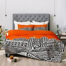 Orange Comforter Bird Ave Princeton University Orange Deny Designs