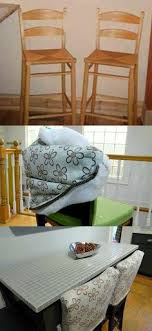 counter height chair slipcovers diy dining chair slipcovers from a tablecloth brown bar stools