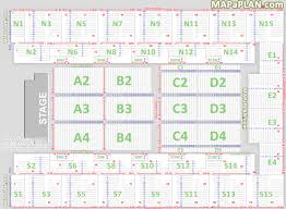 detailed seat numbers chart showing rows and blocks layout