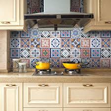 tile decals for kitchen backsplash tile decals seavish traditional mexican tile sticker