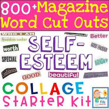 cut outs magazine word cut outs for self esteem collages starter kit by