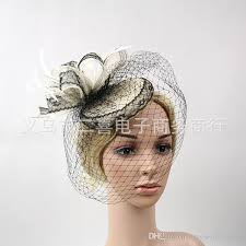 lace fascinator new black and white two color mixed color sisal lace small hat net