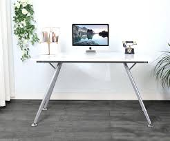 Computer Desk Ebay by Computer Desks Milan Small White Gloss Computer Desk Extendable