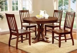furniture of america dark oak karl rustic round dining table