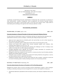 ideas of executive personal assistant resume sample with