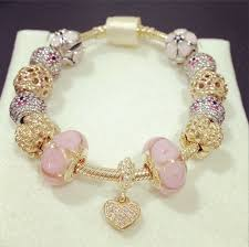pandora chain bracelet charms images Iso pink and gold pandora bracelet bracelets and pandora png