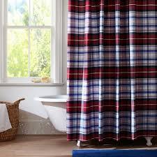 Blue Gingham Shower Curtain Blue Gingham Shower Curtain 13333 Checkered Modern Rod Curtains