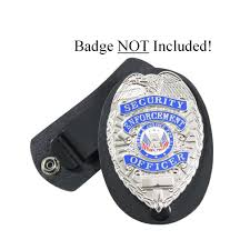 leather security guard loss prevention police detective badge