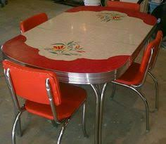 50 s kitchen table and chairs retro chairs vintage kitchen chrome and retro