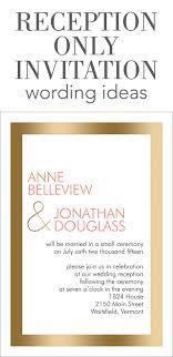 wedding reception invitations reception only invitation wording wedding help tips