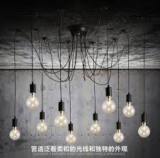 Light Bulb Chandelier Diy Creative Led Light Bulb Chandelier Lighting Simple Fashion
