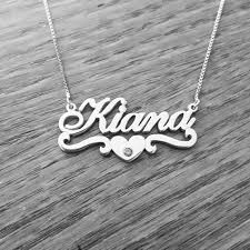 silver name chain necklace images Silver name necklace little girl silver name necklace jpg