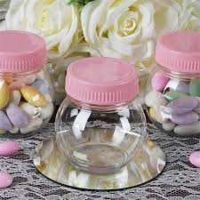 jar party favors 6 oz plastic clear jars baby shower favors wedding party