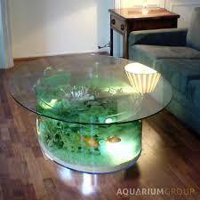 fish tank coffee table diy astonishing round fish tank coffee table