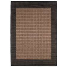couristan recife checkered field indoor outdoor area rug black