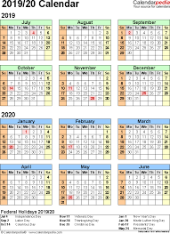 split year calendar 2019 20 printable pdf templates