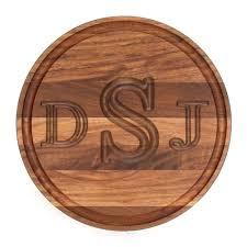 monogrammed serving tray monogram wood serving board monogram