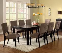 espresso dining room set furniture of america cm3311t bay side i 9 pieces espresso dining