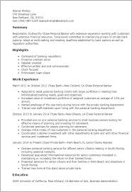 Sample Of Banking Resume professional chase personal banker templates to showcase your