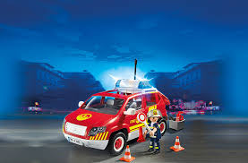 playmobil 5364 city action fire chief s car with lights and sound